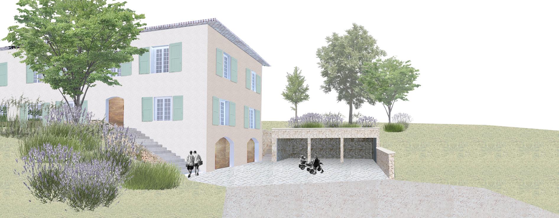 Rénovation d'une maison et restructuration des espaces extérieurs