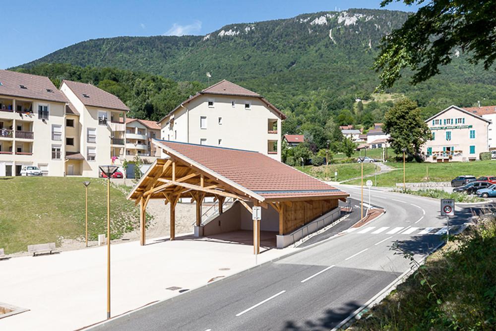 Construction d'une halle de marché